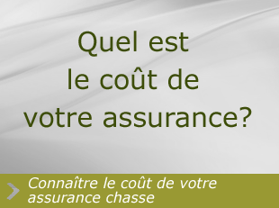 cout assurance chasse